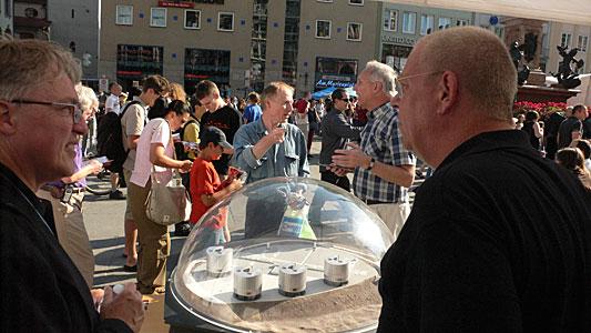 Claus Madsen and Ed Janssen at Wissenschaftssommer