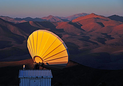 Communication antenna at Paranal