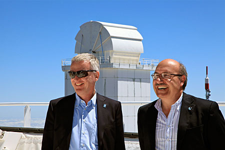 ESO DG with IAC Director at Teide Observatory (Tenerife)