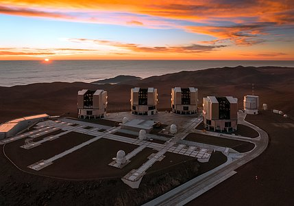 Paranal and the Pacific at Sunset