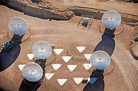 ALMA antennas at the AOS