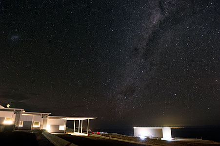 Stars over the technical building