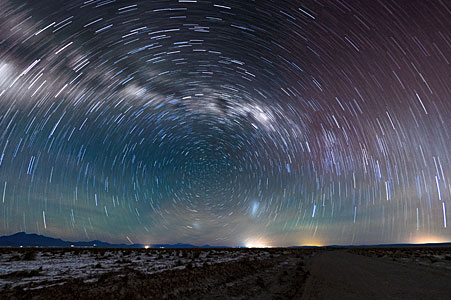 Atacama star trails