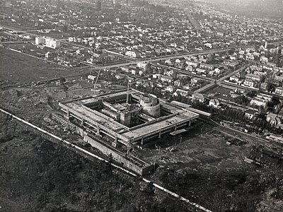 1968 aerial view of UN-CEPAL compound