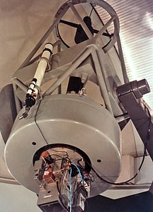 The ESO 1-metre telescope around 1969