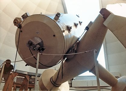 The ESO 1.52-metre telescope, circa 1969
