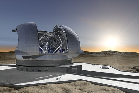 The European Extremely Large Telescope (Artist's rendering)