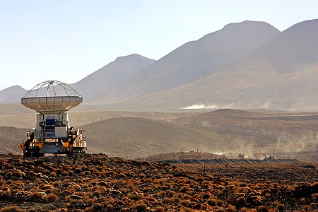 ALMA antenna transported to Chajnantor