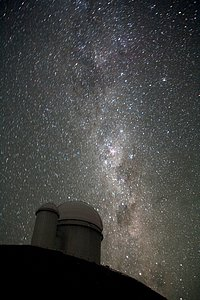 The Milky Way over the ESO 3.6-metre telescope