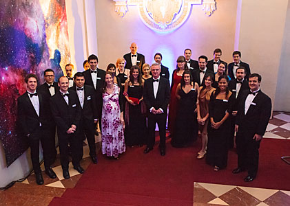 Tim de Zeeuw with ESO Students and Fellows at the ESO 50th Anniversary Gala Event