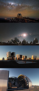 The four ESO Observatories