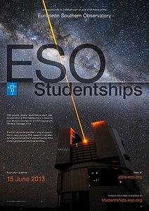 Poster: ESO Studentship 2013