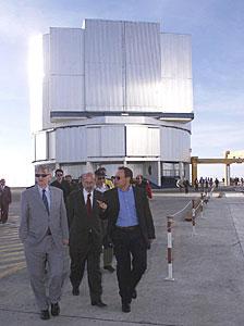 Minister Fischer at the Observing Platform