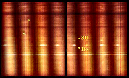 VIMOS Integrated Field-Spectrum of Antennae Galaxies (Detail)