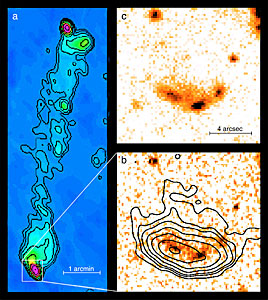 """Hot spots"" near radio galaxy 3C 455"
