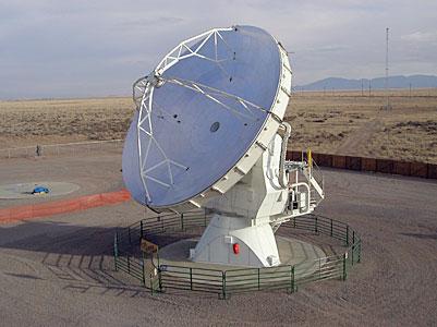 ALMA Prototype Antenna VertexRSI on the ATF Test Site at VLA (New Mexico, USA)