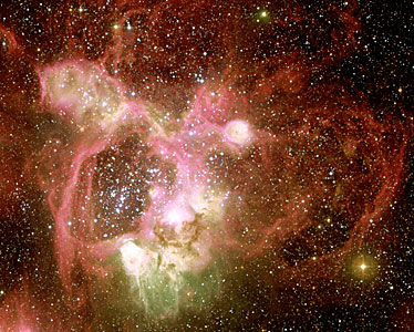 N44 in the Large Magellanic Cloud (Central Region)