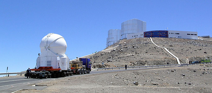 The First Auxiliary Telescope on its Way to the Observing Platform