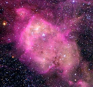 N 164 Nebula in the LMC