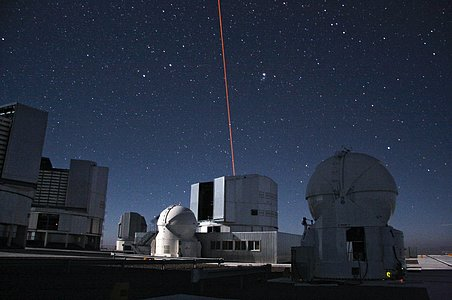 An Artificial Star Above Paranal