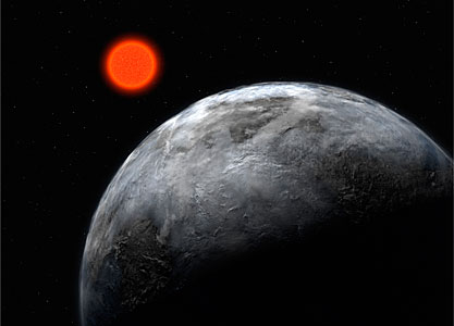 The Earth-like Planet Gliese 581 c (artist's impression)