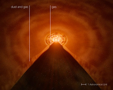 The Growing-up of a Star: the disc around MWC 147