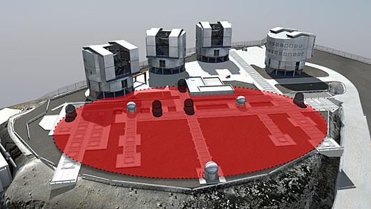 A virtual 100-metre telescope