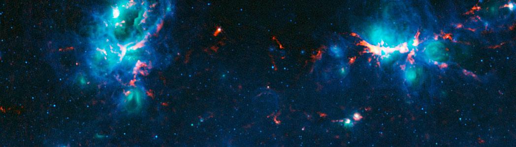The NGC 6357 and NGC 6334 nebulae
