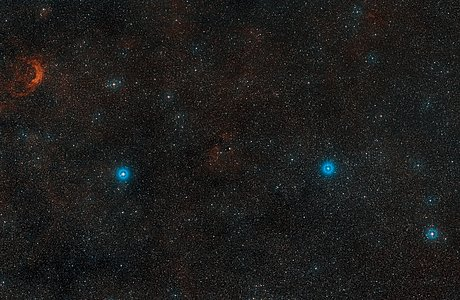 Digitized Sky Survey Image of the double star HD 87643