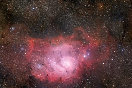 370-million-pixel starscape of the Lagoon Nebula