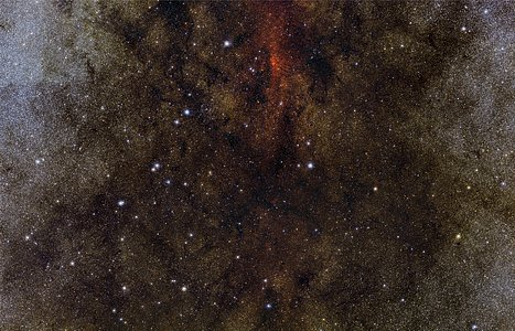 En million stjerner i retning mod Mælkevejens sorte hjerte