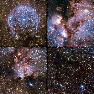 Highlights from VISTA's infrared view of the Cat's Paw Nebula