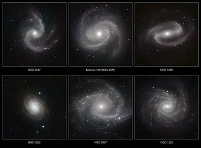 A gallery of spiral galaxies pictured in infrared light by HAWK-I (annotated version)