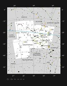 The star-forming region Messier 17 in the constellation of Sagittarius