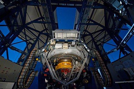 The VLT Survey Telescope observing on a moonlit night