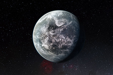 Artists's impression of one of more than 50 new exoplanets found by HARPS: the rocky super-Earth HD 85512 b