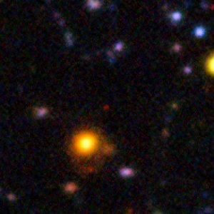 A galaxy seen when the Universe was only 840 million years old