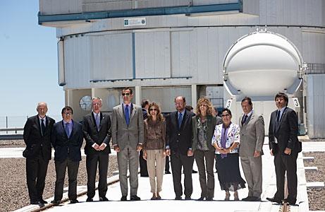 The Prince and Princess of Asturias during their visit to ESO's Paranal Observatory
