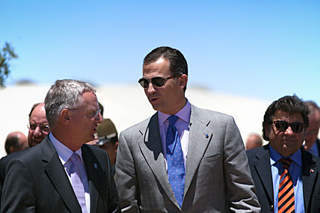 The Prince of Asturias during his visit to ESO's Paranal Observatory