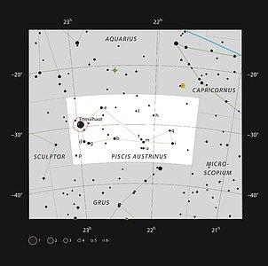 The bright star Fomalhaut in the constellation of Piscis Austrinus