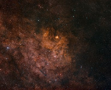 Wide-field view of the sky around the cluster NGC 6604
