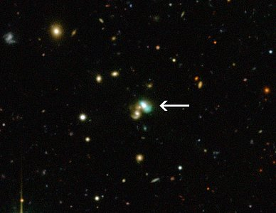 The green bean galaxy J2240 (annotated)