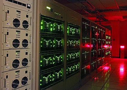 Lights glowing on the ALMA correlator