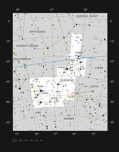 The Lupus 3 dark cloud in the constellation of Scorpius