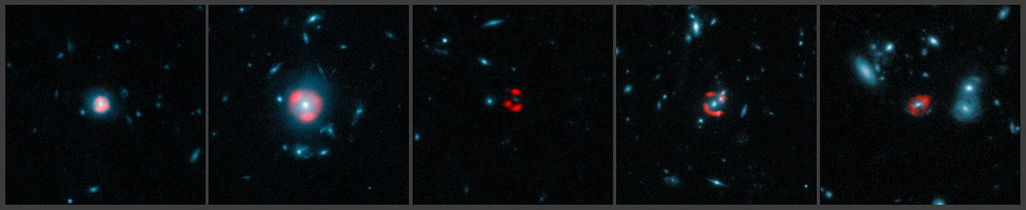 ALMA images of gravitationally-lensed distant star-forming galaxies