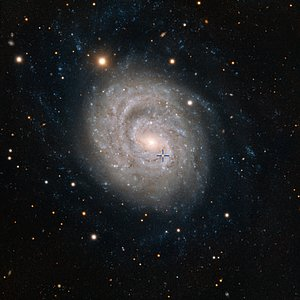The supernova 1999em in the galaxy NGC 1637 (annotated)