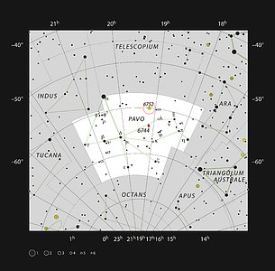 The globular star cluster NGC 6752 in the constellation of Pavo