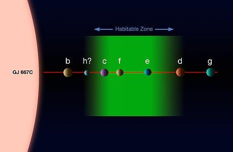 The planetary system around Gliese 667C