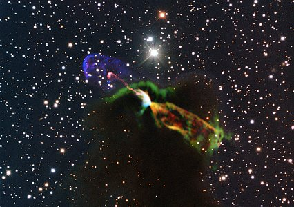 Stunning ALMA and NTT image of Newborn Star