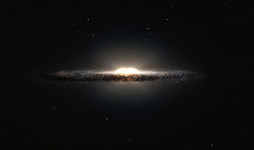 Artist's impression of the central bulge of the Milky Way